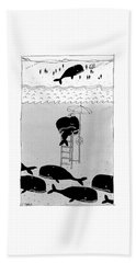 Whale Lifeguard Bath Towel