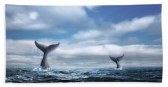 Hand Towel featuring the photograph Whale Of A Tail by Tom Mc Nemar