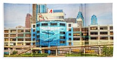 Whales In The City Hand Towel