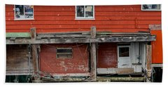 Wharf Shack Hand Towel by Derek Dean