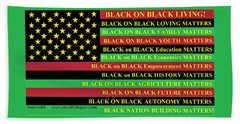 What About Black On Black Living? Hand Towel
