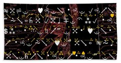 What Does It Say Bath Towel by Steven Macanka