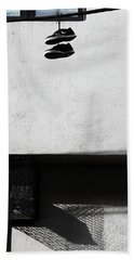 Hand Towel featuring the photograph What That For Me  by Empty Wall