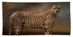 What You Imagine - Cheetah Art Bath Towel by Jordan Blackstone