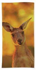 Hand Towel featuring the photograph What's Up, Yanchep National Park by Dave Catley