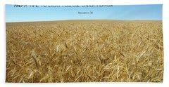 Wheat Field Harvest Season Bath Towel
