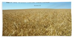 Wheat Field Harvest Season Bath Towel