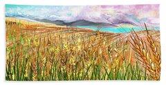 Wheat Landscape Bath Towel