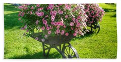 2004 - Wheel Barrow Full Of Flowers Hand Towel