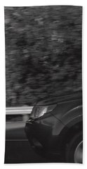 Wheel Blur Photograph Hand Towel