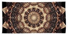 Wheel Of Life Mandala Bath Towel