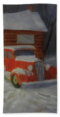 When Cars Were Big And Homes Were Small Hand Towel