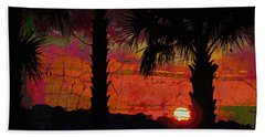 When The Day Ends Time Is Exhausted Hand Towel by Jan Amiss Photography