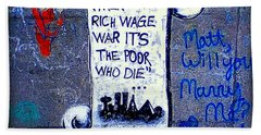 When The Rich Wage War It's The Poor Who Suffer Hand Towel by Peter Gumaer Ogden