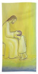 When We Repent Of Our Sins Jesus Christ Looks On Us With Tenderness Hand Towel