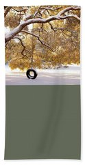 Bath Towel featuring the photograph When Winter Blooms by Karen Wiles