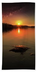Where Heaven Touches The Earth Hand Towel by Rose-Marie Karlsen