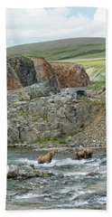 Bath Towel featuring the photograph Where The Bears Are  by Cheryl Strahl