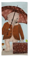 Where To Now Oh Big Bear  Hand Towel