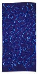 Whimsical Glowing Blue Swirls Hand Towel