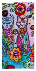 Whimsical Talavera Cats Bath Towel