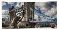 Whimsy At Tower Bridge Hand Towel