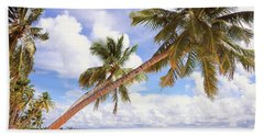 Bath Towel featuring the photograph Whispering Palms. Maldives by Jenny Rainbow