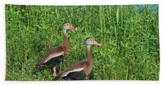 Whistling Ducks Hand Towel