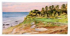 Whistling Straits Golf Course 17th Hole Bath Towel by Bill Holkham