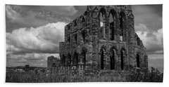 Bath Towel featuring the photograph Whitby Abbey, North York Moors by Chris Coffee