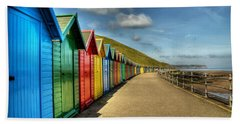 Whitby Beach Huts Hand Towel