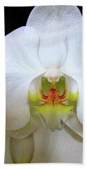 White Beauty Bath Towel by Lehua Pekelo-Stearns