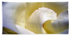 White Beauty Rose Hand Towel