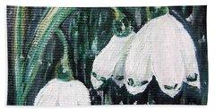 White Bells Hand Towel by Vesna Martinjak