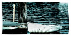 White Boats Hand Towel