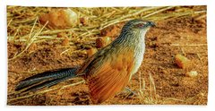 White-browed Coucal Hand Towel