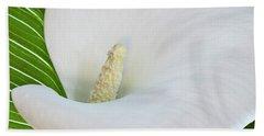 White Calla Bath Towel
