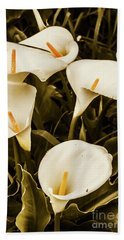 White Calla Lilies Hand Towel