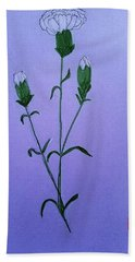 White Carnations Bath Towel
