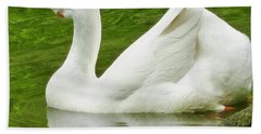Hand Towel featuring the photograph White Chinese Goose by Susan Garren