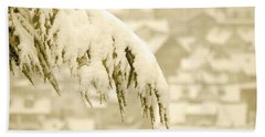 Bath Towel featuring the photograph White Christmas - Winter In Switzerland by Susanne Van Hulst