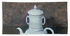 White Coffeepot By Itself Hand Towel