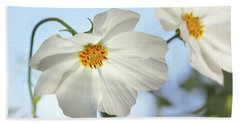 White Cosmos-1 Hand Towel