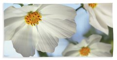 Hand Towel featuring the photograph White Cosmos-2 by Nina Bradica