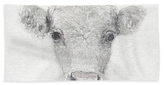White Cow Hand Towel