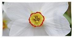 White Daffodil Hand Towel