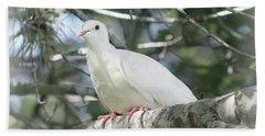 White Dove Messenger Hand Towel