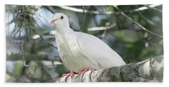 White Dove Messenger Bath Towel