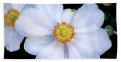 White Flower Hand Towel
