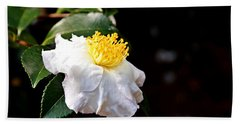 White Flower-so Silky And White Hand Towel